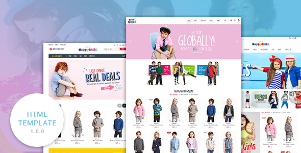 HappyChild - Multi Store Responsive HTML Template - Retail Site Templates