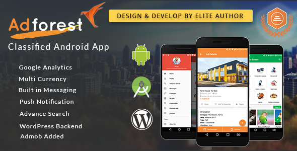 Adforest Classified Android App built in Android Studio