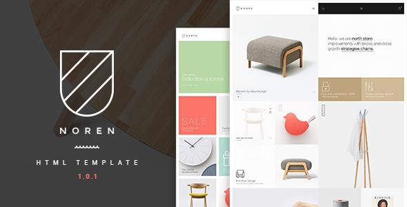 Noren - Multi Store Responsive HTML Template - Retail Site Templates