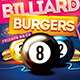 Billiard Burgers Pool Flyer - GraphicRiver Item for Sale