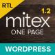 Mitex - One Page WordPress Theme - ThemeForest Item for Sale