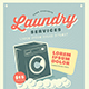 Retro Laundry Service Flyer - GraphicRiver Item for Sale