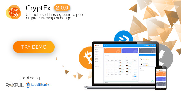 CryptEx - Ultimate peer to peer CryptoCurrency Exchange platform (with self-hosted wallets) - CodeCanyon Item for Sale