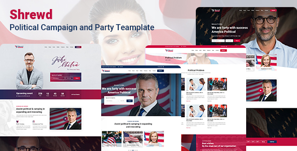 Shrewd Political PSD Template