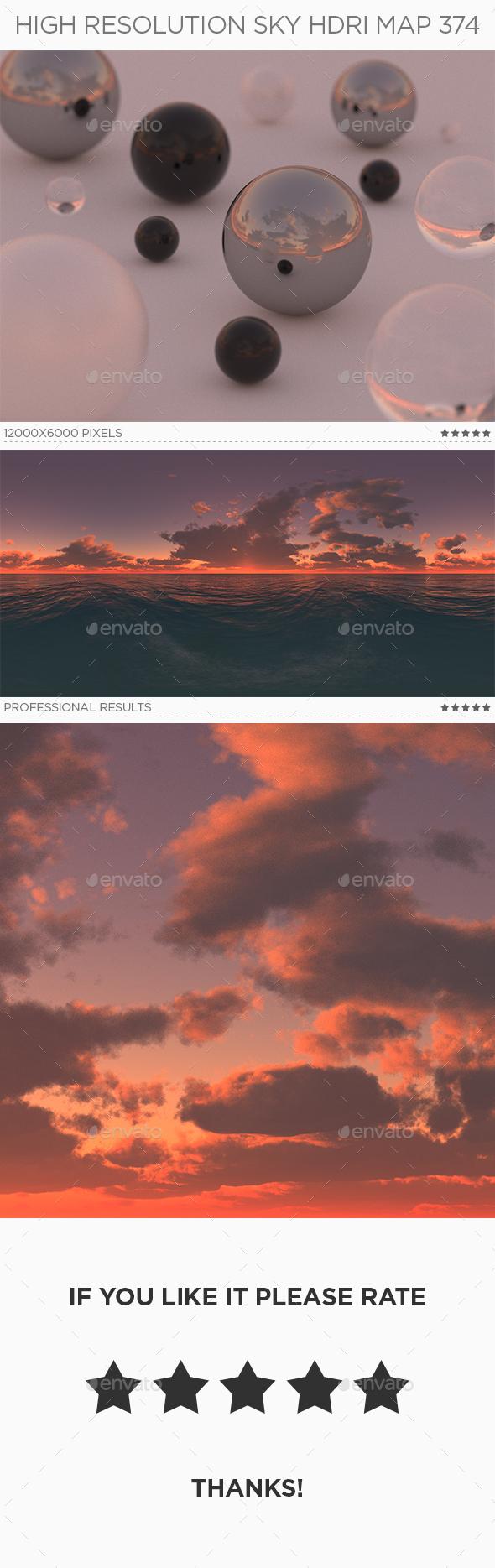 High Resolution Sky HDRi Map 374 - 3DOcean Item for Sale