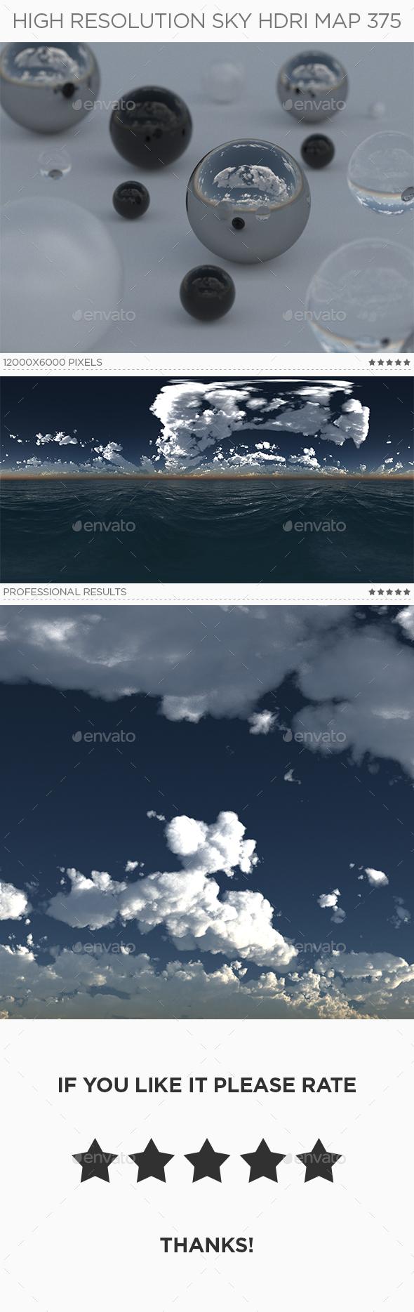 High Resolution Sky HDRi Map 375 - 3DOcean Item for Sale