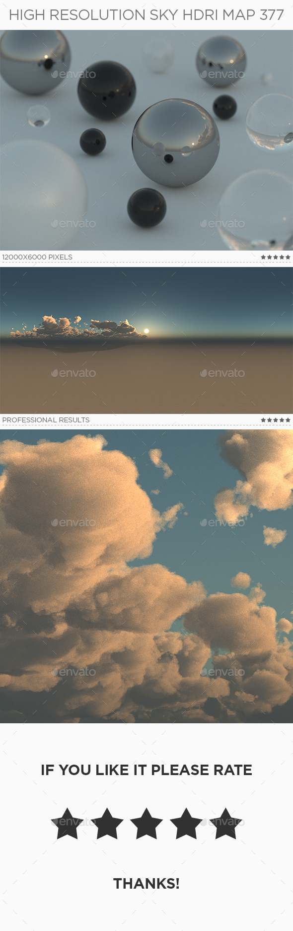 High Resolution Sky HDRi Map 377 - 3DOcean Item for Sale