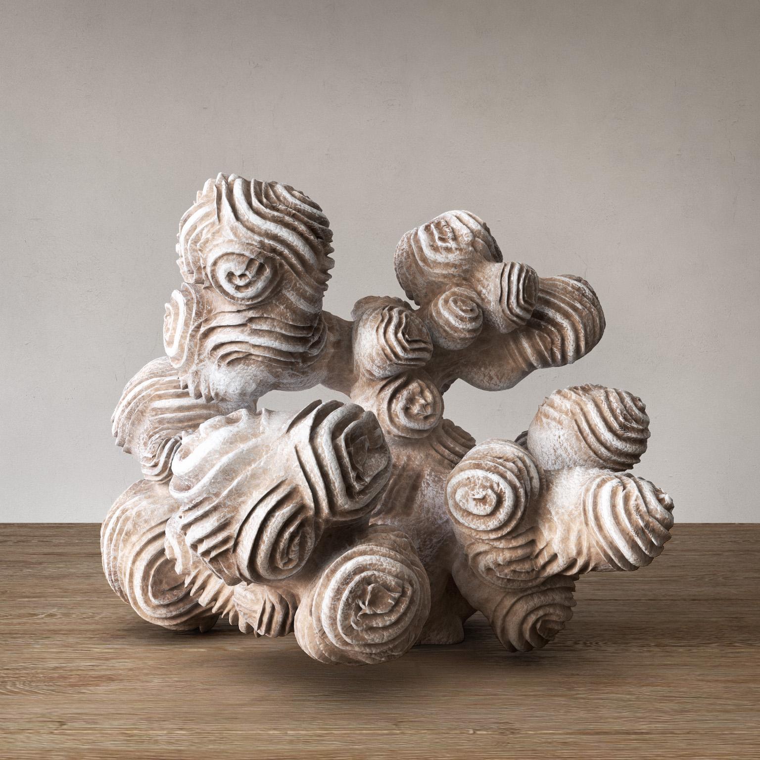 Author sculpture coral