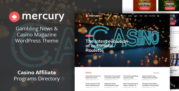 Mercury - Gambling News & Casino Magazine WordPress Theme