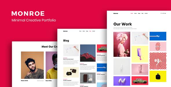Monroe - Minimal Portfolio Theme - Portfolio Creative