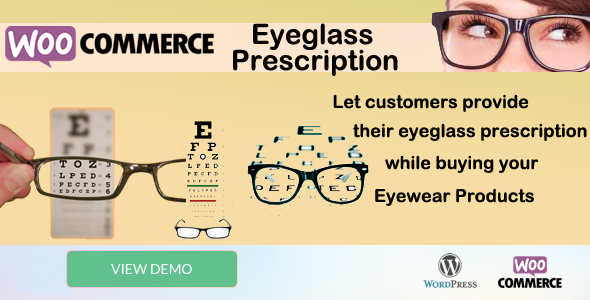 WooCommerce Eyeglass Prescription - CodeCanyon Item for Sale