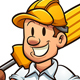 Cartoon Electrician - GraphicRiver Item for Sale