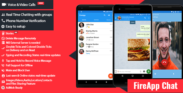 FireApp Chat - Android Chatting App with Groups Inspired by WhatsApp - CodeCanyon Item for Sale