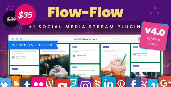 Flow-Flow — WordPress Social Stream Plugin Nulled