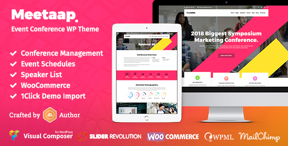Meetaap - Event & Conference WordPress Theme - Events Entertainment