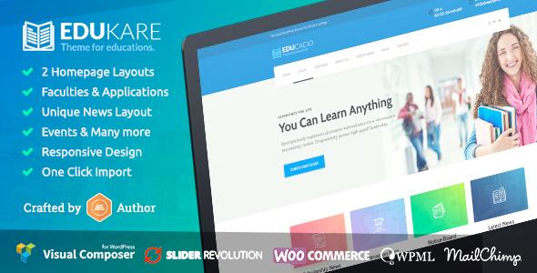 Download Edukare – Education WordPress Theme nulled edukare
