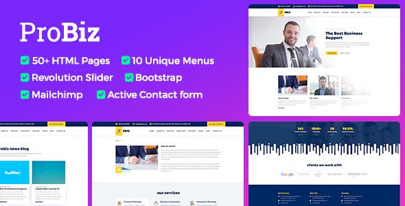 Probiz - Responsive Business HTML Template - Business Corporate