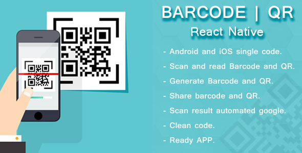 react native barcode and qr scanner and generator by reactiveweb
