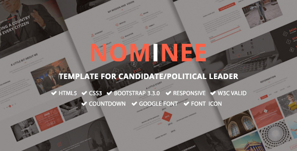 Nominee - Template for Candidate/Political Leader - Political Nonprofit