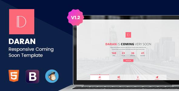 Daran - Responsive Coming Soon Template by TrendyTheme