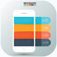 Free Download Mobile phone Infographic Design Nulled