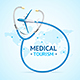 Medical Tourism Concept Banner Card - GraphicRiver Item for Sale