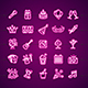 Party Signs Neon Thin Line Icon Set - GraphicRiver Item for Sale