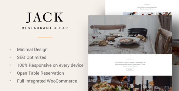 Jack - Restaurant WordPress Theme - Restaurants & Cafes Entertainment