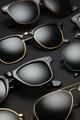 Old-fashioned sunglasses on black background - PhotoDune Item for Sale