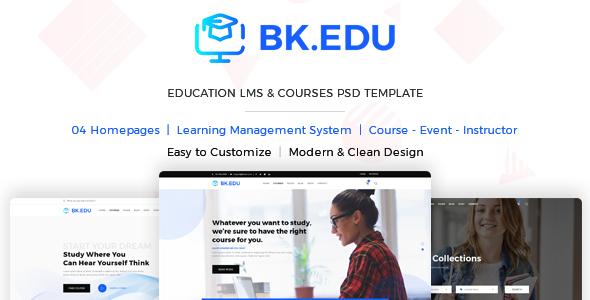 BKEDU - Education LMS & Courses PSD Template