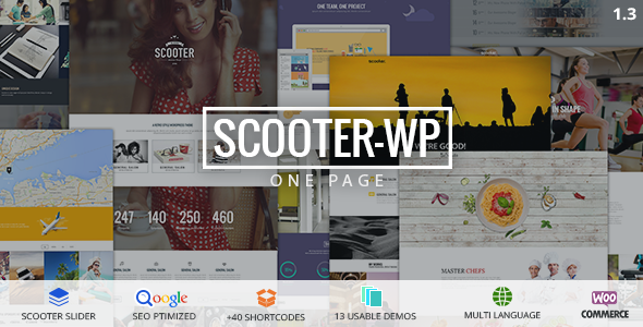 Scooter – One Page Multi-Purpose Theme Free Download