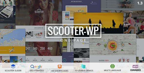 Scooter - One Page Multi-Purpose Theme - Creative WordPress
