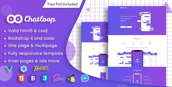 Chatloop - Vue JS App Landing Page