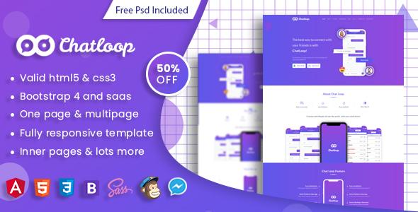 Chatloop - Angular 7 App Landing Page