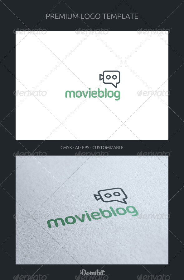 Movie Blog and Chat Logo Template - Objects Logo Templates