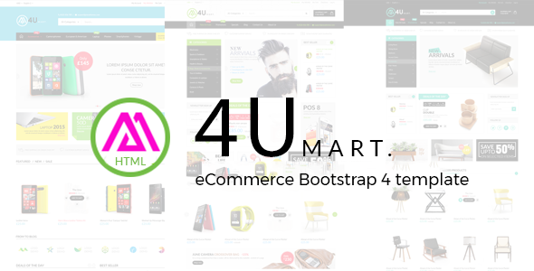M4U - eCommerce Bootstrap 4 Template