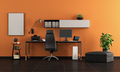Black and orange home office - PhotoDune Item for Sale