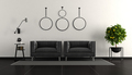 Black and white modern living room - PhotoDune Item for Sale