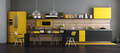 Black and yellow modern kitchen - PhotoDune Item for Sale