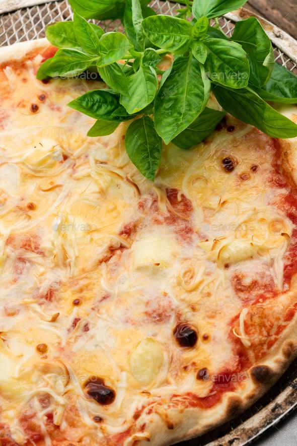 Hot homemade italian pizza - Stock Photo - Images