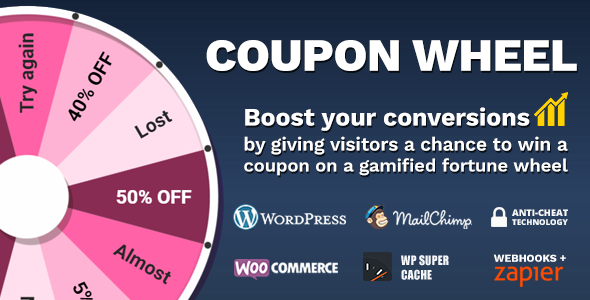 Coupon Wheel For WooCommerce and WordPress - CodeCanyon Item for Sale