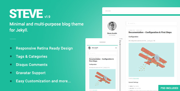 Steve - A minimal blog theme for Jekyll