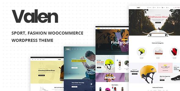 Valen v1.6 – Sport, Fashion WooCommerce WordPress Theme