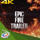 Epic Fire Trailer - Apple Motion - VideoHive Item for Sale