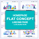 Flat Landing Page Templates - GraphicRiver Item for Sale