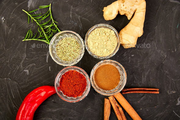 Fresh and dried seasoning herbs and spices