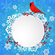 Christmas Banner with Snowflakes and Cardinal Bird - GraphicRiver Item for Sale