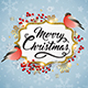 Christmas Background with Bullfinch Birds - GraphicRiver Item for Sale