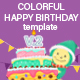 Colorful Happy Birthday Video Template V.2 - VideoHive Item for Sale