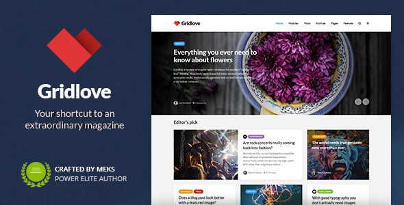 Gridlove - News Portal & Magazine WordPress Theme